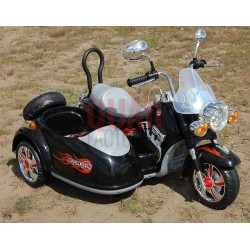 RIDE ON MOTOR BIKE - HARLEY STYLE WITH SIDE CAR - 12V