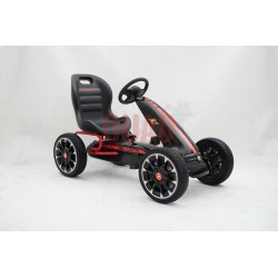 Licensed Abarth Pedal Go Kart (BLACK)