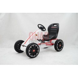 Licensed Abarth Pedal Go Kart (WHITE)